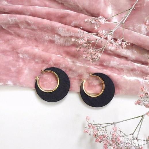 Серьги кольца Массимо - 113241
