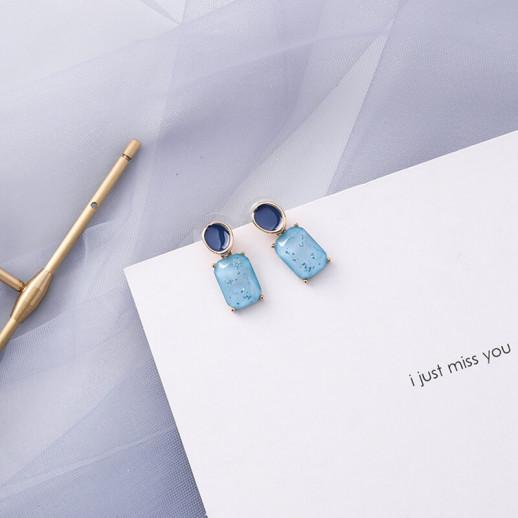 Серьги Ноеми, синие