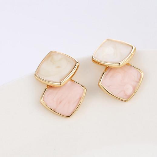 Серьги Салли, розовые