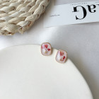 Серьги Флора, розовые