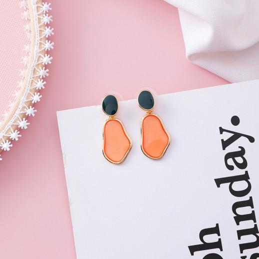 Серьги Аманда, оранжевые