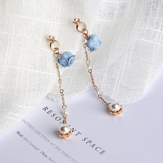 Длинные серьги Флоренс, голубые
