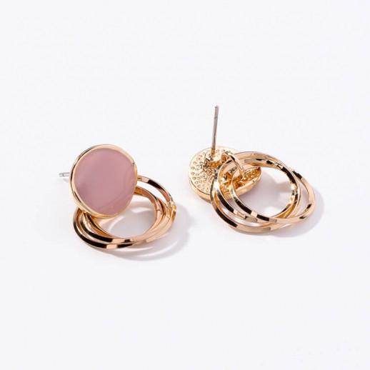 Серьги Паола, розовые