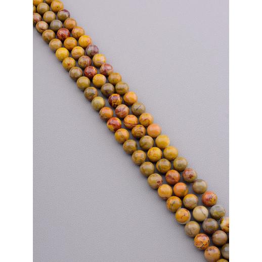 Нитка Яшма 38 см. 10,5 мм. (Без замка) - 89257