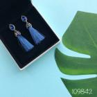 Серьги Кисточки Синие