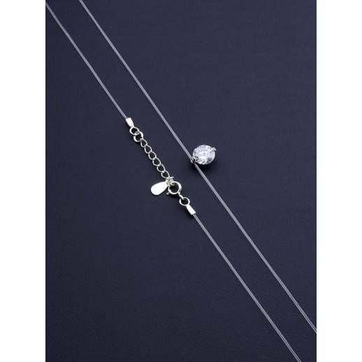 Подвеска Фианит 40 см. Серебро(925) - 67520