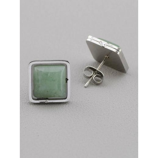 Серьги Нефрит - 51092
