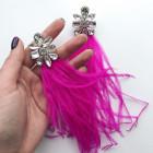 Серьги Plume Pink