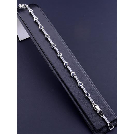Браслет 'XUPING' Фианит 18 см. (родий) - 80715