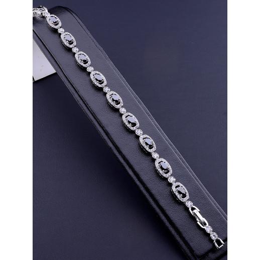 Браслет 'XUPING' Фианит 18 см. (родий) - 80705