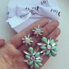 Серьги Kristal Mint