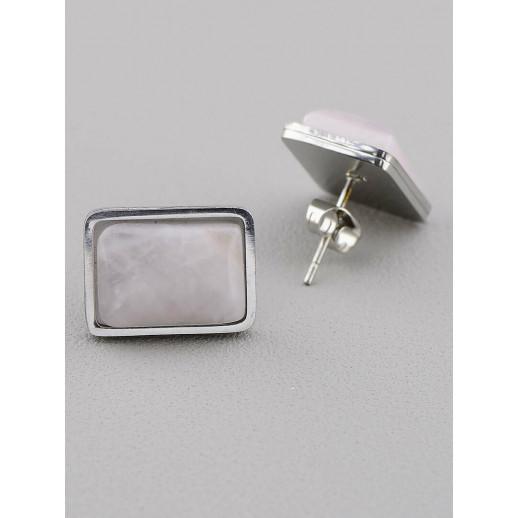 Серьги Розовый кварц - 51058