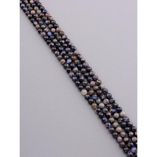 Нитка Яшма 38 см. 6,5 мм. (Без замка) - 89259