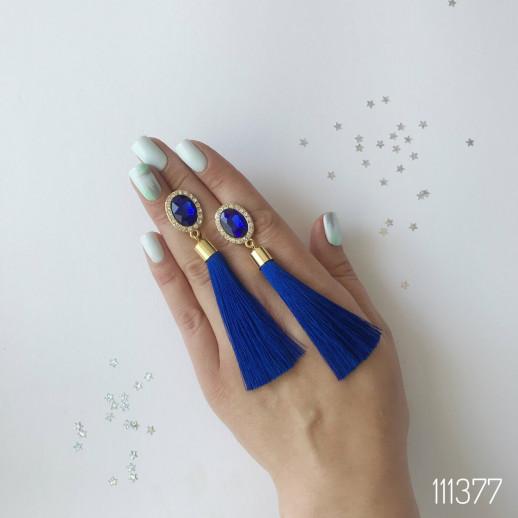 Серьги Кисти Виола Синие