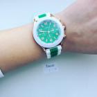 Реплика часов Geneva green/white