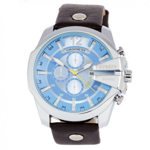 Часы Curren Silver-Black Blue dial 8176-4