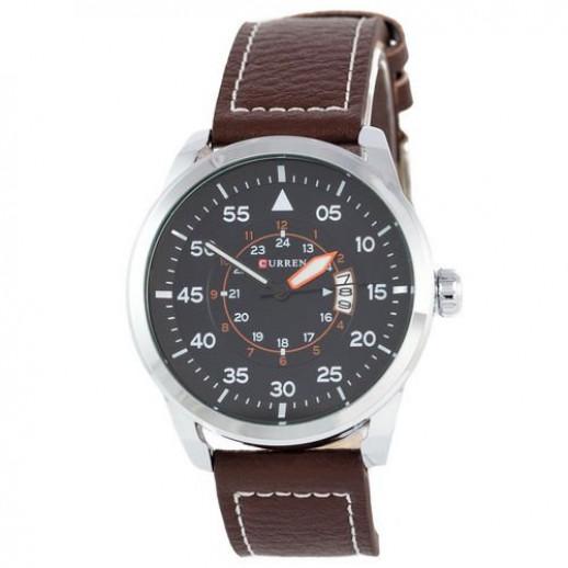 Часы Curren Silver-Brown Black dial 8210-1