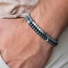Двойной мужской браслет - 1550