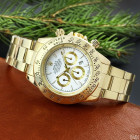 Часы Rolex Daytona Quartz Date Gold-White