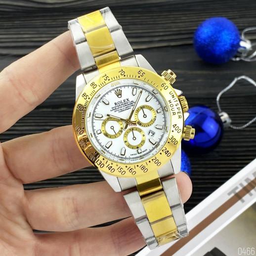 Часы Rolex Daytona Quartz Date Silver-Gold-White