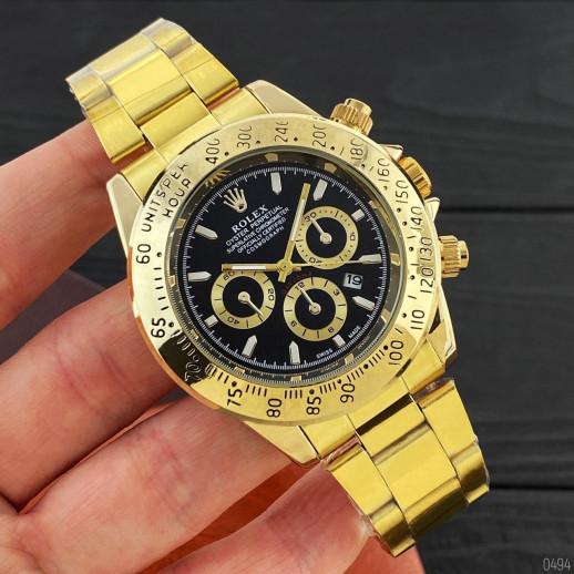 Часы Rolex Daytona Quartz Date Gold-Black