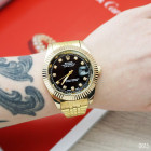 Часы Rolex Date Just Gold-Black