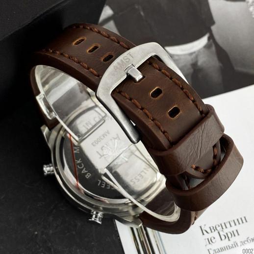 Часы AMST 3003 Silver-Black Brown Wristband