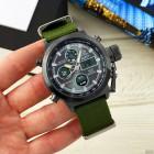 Часы AMST 3003 Black-Black Green Wristband