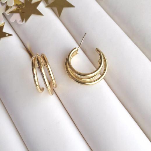 Серьги кольца Агнес - 113243